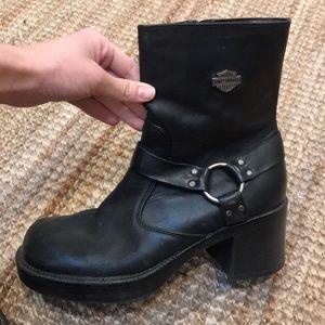 Squared Toe Harley Davidson Boots!